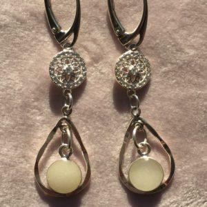 Moedermelkoorbellen van zilver en zirkonia